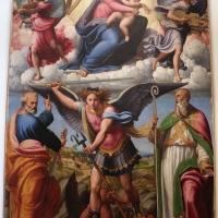 Innocenzo da imola, madonna in gloria e tre santi, 1517-22, da s. michele in bosco 01 - Sailko - Bologna (BO)