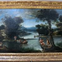 Domenichino, paesaggio con fiume e barche - Sailko - Bologna (BO)