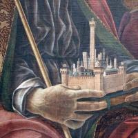 Francesco del cossa, pala dei mercanti, col committente alberto de' cattanei, 1474, 03,2 modellino di bologna - Sailko - Bologna (BO)