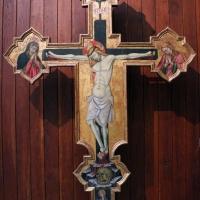 Giovanni martorelli (attr.), croce sagomata con i dolenti e s. cristina, 1450 ca., da cappella di palazzo caprara 01 - Sailko - Bologna (BO)