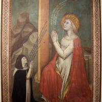 Simone dei crocifissi, s. elena oin adorazione della croce e una monaca, 1375-80 ca., da s. agnese - Sailko - Bologna (BO)
