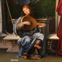 Francesco francia, madonna in trono e santi, 1490 ca., da s.m. della misericordia, 04 angelo musicante - Sailko - Bologna (BO)