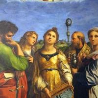 Raffaello e collaboratori, estasi di santa cecilia, 1515 ca. da pinacoteca nazionale 03 - Sailko - Bologna (BO)