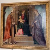 Lorenzo costa, madonna in trono tra i ss. petronio e tecla, 1496 - Sailko - Bologna (BO)