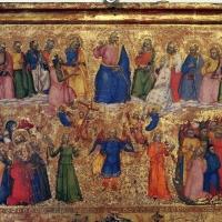 Maestro della misericordia, giudizio universale, vir dolorum e compianto, 1360-65 ca. 02 - Sailko - Bologna (BO)