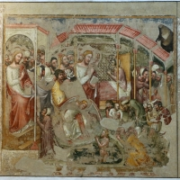 Simone dei crocifissi e jacobus, guarigione del paralitico, 1350-60 ca., da oratorio di mezzaratta - Sailko - Bologna (BO)
