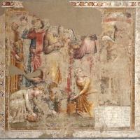 Jacopo di paolo e altri, storie di mosè, 1375-80 ca., da oratorio di mezzaratta, 01 raccolta della manna - Sailko - Bologna (BO)