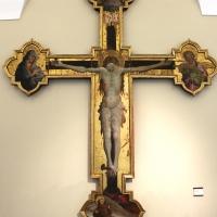 Giovanni da modena, croce sagomata col padre eterno, maria dolente e i ss. giovanni e francesco, 1415 ca, da s. francesco 01 - Sailko - Bologna (BO)