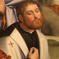 Francesco francia, adorazione del bambino con santi alla presenza di anton galeazzo e alessandro bentivoglio, 1498-99, da s.m. della misericordia 02,2 - Sailko - Bologna (BO)