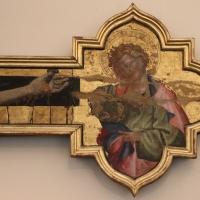 Giovanni da modena, croce sagomata col padre eterno, maria dolente e i ss. giovanni e francesco, 1415 ca, da s. francesco 05 - Sailko - Bologna (BO)