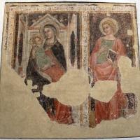 Andrea de' bruni (attr., ambito di Vitale), madonna in trono col bambino e s.g. evangelista, 1360-65 ca., da s. m. maddalena - Sailko - Bologna (BO)