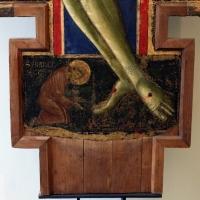 Maestro dei crocifissi francescani e jacopo di paolo, crocifisso con la madonna, angeli, s. francesco e s. elena, 1254 ca., da s.maria in borgo s. pietro 03 - Sailko - Bologna (BO)