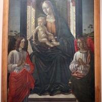 Maestro di ambrogio saraceno, madonna col bambino in trono e due angeli, 1493, da s. giovanni in monte, 01 - Sailko - Bologna (BO)