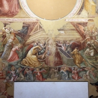 Vitale da bologna, annunciazione, natività, sogno di maria e guarigione miracolosa, 1340-45 ca., da oratorio di mezzaratta 03 - Sailko - Bologna (BO)