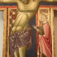 Maestro dei crocifissi francescani e jacopo di paolo, crocifisso con la madonna, angeli, s. francesco e s. elena, 1254 ca., da s.maria in borgo s. pietro 02,1 - Sailko - Bologna (BO)