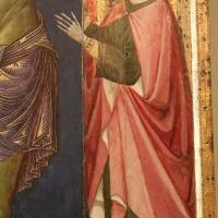 Maestro dei crocifissi francescani e jacopo di paolo, crocifisso con la madonna, angeli, s. francesco e s. elena, 1254 ca., da s.maria in borgo s. pietro 02,2 - Sailko - Bologna (BO)