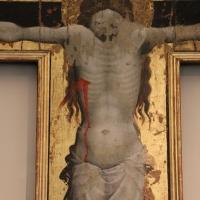 Giovanni da modena, croce sagomata col padre eterno, maria dolente e i ss. giovanni e francesco, 1415 ca, da s. francesco 04 - Sailko - Bologna (BO)