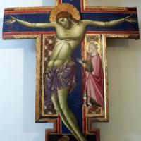 Maestro dei crocifissi francescani e jacopo di paolo, crocifisso con la madonna, angeli, s. francesco e s. elena, 1254 ca., da s.maria in borgo s. pietro 01 - Sailko - Bologna (BO)