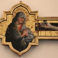 Giovanni da modena, croce sagomata col padre eterno, maria dolente e i ss. giovanni e francesco, 1415 ca, da s. francesco 03 - Sailko - Bologna (BO)