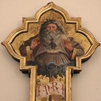 Giovanni da modena, croce sagomata col padre eterno, maria dolente e i ss. giovanni e francesco, 1415 ca, da s. francesco 02 - Sailko - Bologna (BO)