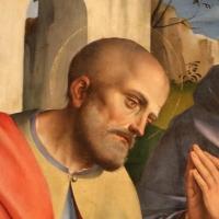 Francesco francia, adorazione del bambino con santi alla presenza di anton galeazzo e alessandro bentivoglio, 1498-99, da s.m. della misericordia 02,1 - Sailko - Bologna (BO)