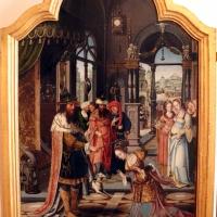 Pittore di anversa, trittico con storie di ester, assuero, adamo ed eva, 1520 ca. 03 - Sailko - Bologna (BO)