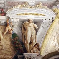 Domenico Maria Canuti, salone di palazzo pepoli campogrande con apoteosi di ercole, quadrature del mengazzino, xvii sec. 23,3 - Sailko - Bologna (BO)