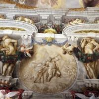 Domenico Maria Canuti, salone di palazzo pepoli campogrande con apoteosi di ercole, quadrature del mengazzino, xvii sec. 28,1 - Sailko - Bologna (BO)