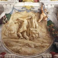 Domenico Maria Canuti, salone di palazzo pepoli campogrande con apoteosi di ercole, quadrature del mengazzino, xvii sec. 23,2 - Sailko - Bologna (BO)