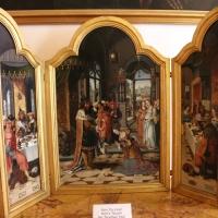 Pittore di anversa, trittico con storie di ester, assuero, adamo ed eva, 1520 ca. 01 - Sailko - Bologna (BO)