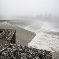 Il fiume Reno e la Chiusa in inverno - Paolocortesiwiki - Casalecchio di Reno (BO)