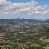 Santuario della Beata Vergine - panorama sulla valle sottostante e su Vergato - Stefano Giberti - Grizzana Morandi (BO)
