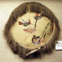 Ventaglio in seta dipinta a mano e manico in avorio, xix secolo - Sailko - Imola (BO)