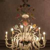 Imola, palazzo tozzoni, salone, lampadario in vetro di murano - Sailko - Imola (BO)
