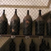 Imola, palazzo tozzoni, cantine, bottiglioni di vino dal 1845 al 1910, 02 - Sailko - Imola (BO)