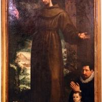 Artista forse fiammingo attivo in italia, santo francescano con due donatori, xvi secolo - Sailko - Imola (BO)