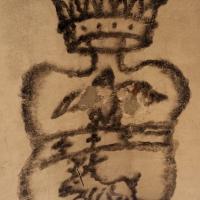 Imola, palazzo tozzoni, cantine, stemma fatto col nerofumo - Sailko - Imola (BO)
