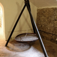 Imola, palazzo tozzoni, cantine, setaccio per i grano - Sailko - Imola (BO)