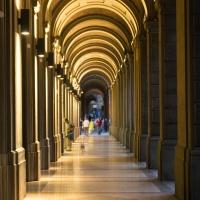 Portico di Via Farini di notte - Matteo Santori - Bologna (BO)
