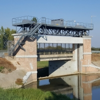 Ponte Guazzaloca sul Canale Collettore Acque Alte nel territorio di Crevalcore (Bo) - Maria Rita Biagini - Crevalcore (BO)