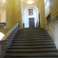 Biblioteca Comunale - dettaglio scalinata 2 - Maurolattuga - Imola (BO)