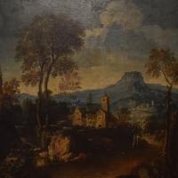 Giuseppe Zola, Paesaggio con torrente alberi ed edifici rustici, Pinacoteca Civica Pieve di Cento - Nicola Quirico - Pieve di Cento (BO)