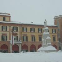 Palazzo Comunale, scorcio ripreso durante la grande nevicata del 12 febbraio 2012 - Andrea savorelli - Forlì (FC)