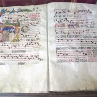 Antifonario da pasqua al corpus domini, 1450s, cod. bessarione 3, 01 - Sailko - Cesena (FC)