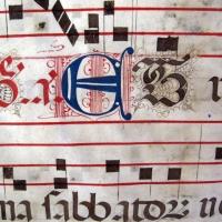 Antifonario da pasqua al corpus domini, 1450s, cod. bessarione 3, 04 arte calligrafica - Sailko - Cesena (FC)