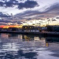Porto canale , capanni da pesca al tramonto - Marco della pasqua - Cesenatico (FC)