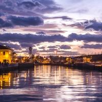 Il Portocanale e il faro al tramonto - Marco della pasqua - Cesenatico (FC)