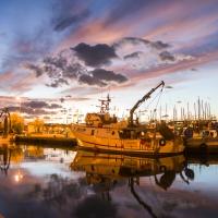 All'ormeggio sul porto canale, alla luce del tramonto - Marco della pasqua - Cesenatico (FC)