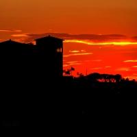 Longiano, Castello Malatestiano alla luce del tramonto - Marco della pasqua - Longiano (FC)