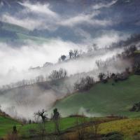 Gioco di nebbie e colori sul Fondovalle Rubicone - Marco della pasqua - Savignano sul Rubicone (FC)